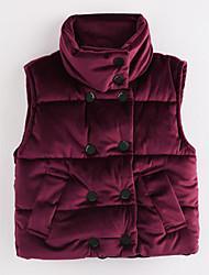 cheap -Girls' Solid Vest, Cotton Purple