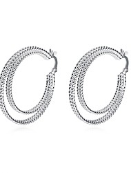 cheap -Women's Drop Earrings / Hoop Earrings - Silver Plated Vintage, Sweet, Fashion Silver For Daily / Evening Party