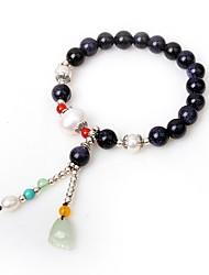 Kadın's Tılsım Bileklikler Strand Bilezikler Onyx İnci Asyalı Hediye Akik Circle Shape Mücevher Uyumluluk Parti Günlük