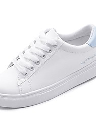 baratos -Feminino Sapatos Borracha Inverno Conforto Tênis Ponta Redonda Para Branco Preto Verde Azul Rosa claro