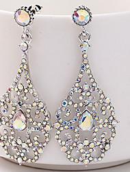preiswerte -Damen Strass Strass Tropfen-Ohrringe - Elegant Silber Ohrringe Für Hochzeit / Bühne