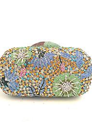 Недорогие -Жен. Мешки стекло / Металл Вечерняя сумочка Кристаллы для Свадьба / Для праздника / вечеринки Синий