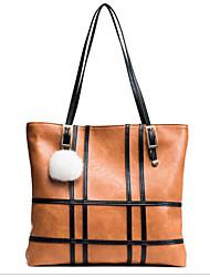 preiswerte -Damen Taschen PU Umhängetasche Reißverschluss für Formal Alle Jahreszeiten Schwarz Grau Braun