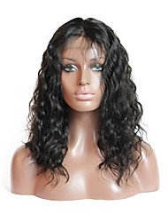 cheap -Brazilian Glueless Lace Front Human Hair Wigs Water Wave With Baby Hair Bleached Knots Natural Hairline