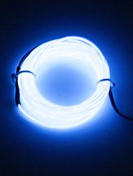 economico -brelong 3m dc 12v el ha condotto la linea rotonda chiara fredda della striscia al neon - alimentazione elettrica