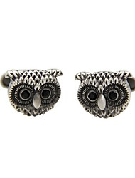 cheap -Owl Black Cufflinks Copper Retro / Vintage Owl Party Gift Men's Costume Jewelry