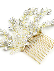 cheap -Crystal Rhinestone Hair Combs Flowers with Sparkling Glitter Scattered Crystals Style 1pc Wedding Party / Evening Headpiece