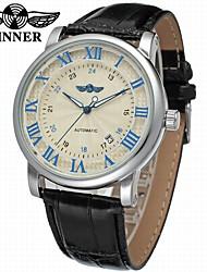 levne -WINNER Pánské mechanické hodinky Náramkové hodinky Hodinky k šatům Automatické natahování Kalendář Kůže Kapela Luxus Vintage Na běžné