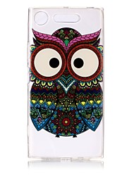 cheap -Case For Sony Xperia XZ1 / Xperia XA1 Ultra-thin / Transparent / Embossed Back Cover Owl Soft TPU for Sony Xperia XZ1 / Sony Xperia XA1 / Sony Xperia L1