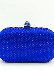 Mulher Bolsas Todas as Estações Poliéster Bolsa de Festa Detalhes em Cristal para Casamento Festa/Eventos Azul Escuro