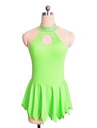 baratos -Vestidos para Patinação Artística Mulheres Para Meninas Patinação no Gelo Vestidos Verde Violeta Elastano Sem Elasticidade Espetáculo