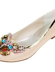 abordables -Femme Chaussures Satin Elastique Printemps Automne Confort Chaussures de mariage Talon Plat Bout rond Cristal Paillette pour Habillé