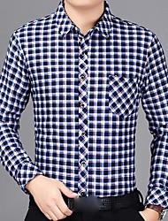 cheap -Men's Street chic Shirt - Check Formal Style / Long Sleeve