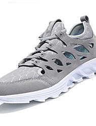 cheap -Men's Shoes PU Tulle Spring Fall Comfort Athletic Shoes Running Shoes for Athletic Casual Brown Gray Black