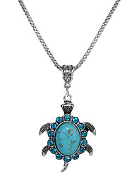 cheap -Women's Turtle Crystal Rhinestone Turquoise Pendant Necklace  -  Animals Simple Fashion Turquoise Necklace For Gift Evening Party