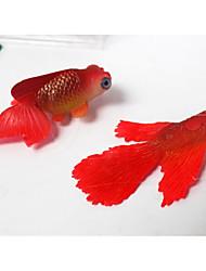 economico -Decorazioni Acquario Pesce finto Ornamenti Mini Decorativo Non tossico e senza sapore Divertente Gomma in silicone Silicone