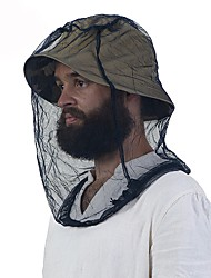 cheap -Mosquito Cap Unisex Spring, Fall, Winter, Summer Pollution Protection Mask Quick Dry Polyester Cotton Blend Hiking Camping & Hiking Solid