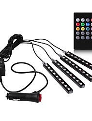 economico -1 set 9led * 4 car styling decorativo led rgb controller luce ambientale smd5050 sound control dc12v