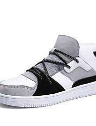 economico -Da uomo Scarpe Pelle nubuck Scamosciato Inverno Autunno Comoda Sneakers Corsa campestre Pizzo per Casual Nero Grigio