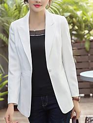 Недорогие -Жен. Куртка Рубашечный воротник Однотонный