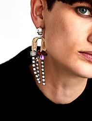 abordables -Femme Perle imitée Imitation de perle Boucles d'oreille goutte / Boucles d'oreille gitane - Rétro / Large / Mode Bleu clair / Vert clair