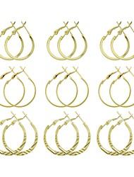 Недорогие -Жен. Серьги-слезки - Классический, Мода Золотой / Серебряный Назначение Повседневные / Свидание
