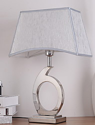 cheap -Ambient Light Metallic Table Lamp Eye Protection On/Off Switch AC Powered 220V White