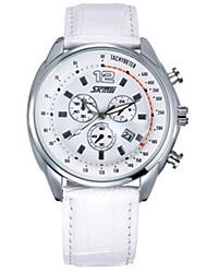 Недорогие -SKMEI Для пары Кварцевый Спортивные часы Китайский Календарь Защита от влаги Крупный циферблат Повседневные часы Натуральная кожа Группа