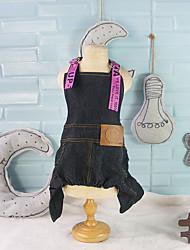 abordables -Perro Pantalones Vaqueros Ropa para Perro Ocio Estilo lindo Inodoro Vaqueros Naranja Verde Rosa Disfraz Para mascotas