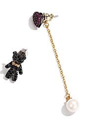 cheap -Women's Stud Earrings Drop Earrings , Sweet Lovely Zircon Alloy Bear Heart Jewelry Gift Going out