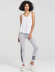 cheap -Women's Daily Sporty Legging - Letter, Print Mid Waist / Spring / Summer / Fall / Skinny