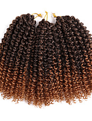 cheap -Braiding Hair Curly / Crochet Curly Braids / Hair Braids 100% kanekalon hair 3pcs / pack Hair Braids Blonde / Auburn 8 inch Short Event / Party