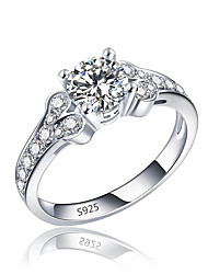 preiswerte -Damen Kubikzirkonia / Strass Silber Bandring - Unendlichkeit Retro / Elegant Silber Ring Für Hochzeit / Verlobung / Zeremonie