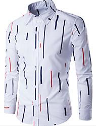 メンズ お出かけ カジュアル/普段着 シャツ,アジアン・エスニック シャツカラー プリント ポリエステル 長袖