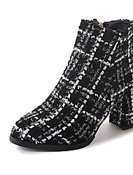 cheap -Women's Shoes PU Fall / Winter Comfort Boots Pointed Toe Mid-Calf Boots Zipper for White / Black