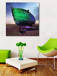 baratos -Tela de impressão Rústico Modern, 1 Painel Tela de pintura Quadrada Estampado Decoração de Parede Decoração para casa