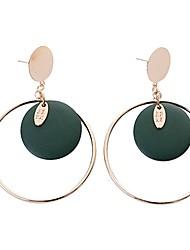 cheap -Women's Drop Earrings , Bohemian Hip-Hop Cool Wooden Alloy Circle Jewelry Bar Club Costume Jewelry