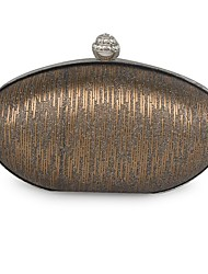 cheap -Women's Bags Metal Evening Bag Beading Silver / Coffee