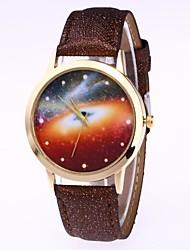 preiswerte -Damen Quartz Armbanduhr Chinesisch Mond Phase PU Band Mehrfarbig Schwarz Weiß Blau Braun Grün Rosa Rose