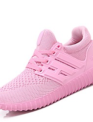 cheap -Women's Shoes Knit Fabric Tulle Winter Fall Comfort Athletic Shoes Walking Shoes for Athletic Casual Black Red Pink