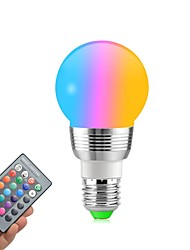 cheap -1pc 5W 400lm E14 / E26 / E27 LED Globe Bulbs 5 LED Beads SMD Dimmable / Remote-Controlled / Decorative RGBW 85-265V / RoHS
