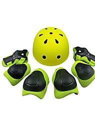 Enfant Casque Extérieur Coupe-vent Protections Avant-bras Protège Genoux Casque de Skate Roller Other Non tissé Plastique + platine + eau