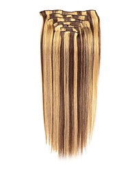 cheap -Clip In Human Hair Extensions 7Pcs/Pack 70g/pack Chestnut Brown/Bleach Blonde Medium Brown/Strawberry Blonde Medium Brown/Bleach Blonde