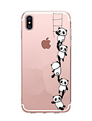 cheap -For iPhone X iPhone 8 Case Cover Transparent Pattern Back Cover Case Cartoon Panda Soft TPU for Apple iPhone X iPhone 8 Plus iPhone 8