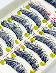 Недорогие -Ресницы 10 Натуральный Повседневный макияж Ленточные накладные ресницы Натуральная длина Цветной Инструменты для макияжа Высокое качество