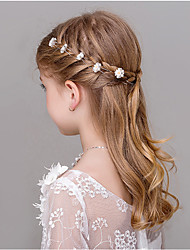 cheap -Imitation Pearl Rhinestone Hair Pin Hair Stick with Floral 5 Wedding Party / Evening Headpiece