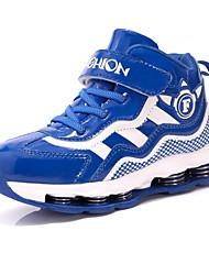 abordables -Garçon Chaussures Cuir Verni Automne Confort Chaussures d'Athlétisme Course à Pied pour Noir / Rouge / Bleu