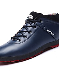 cheap -Men's Shoes PU Winter Comfort Sneakers for Casual Black Dark Blue Brown