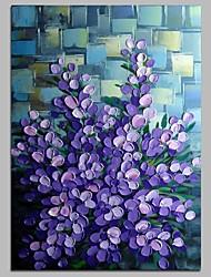 Pintados à mão Floral/Botânico Vertical,Modern Tela Pintura a Óleo Decoração para casa 1 Painel
