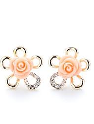 economico -Per donna Florale / Colorato Fiore decorativo Orecchini a bottone - Florale / Colorato Oro Orecchini Per Matrimonio / Capodanno